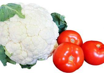 Bloemkool koken met tomaat